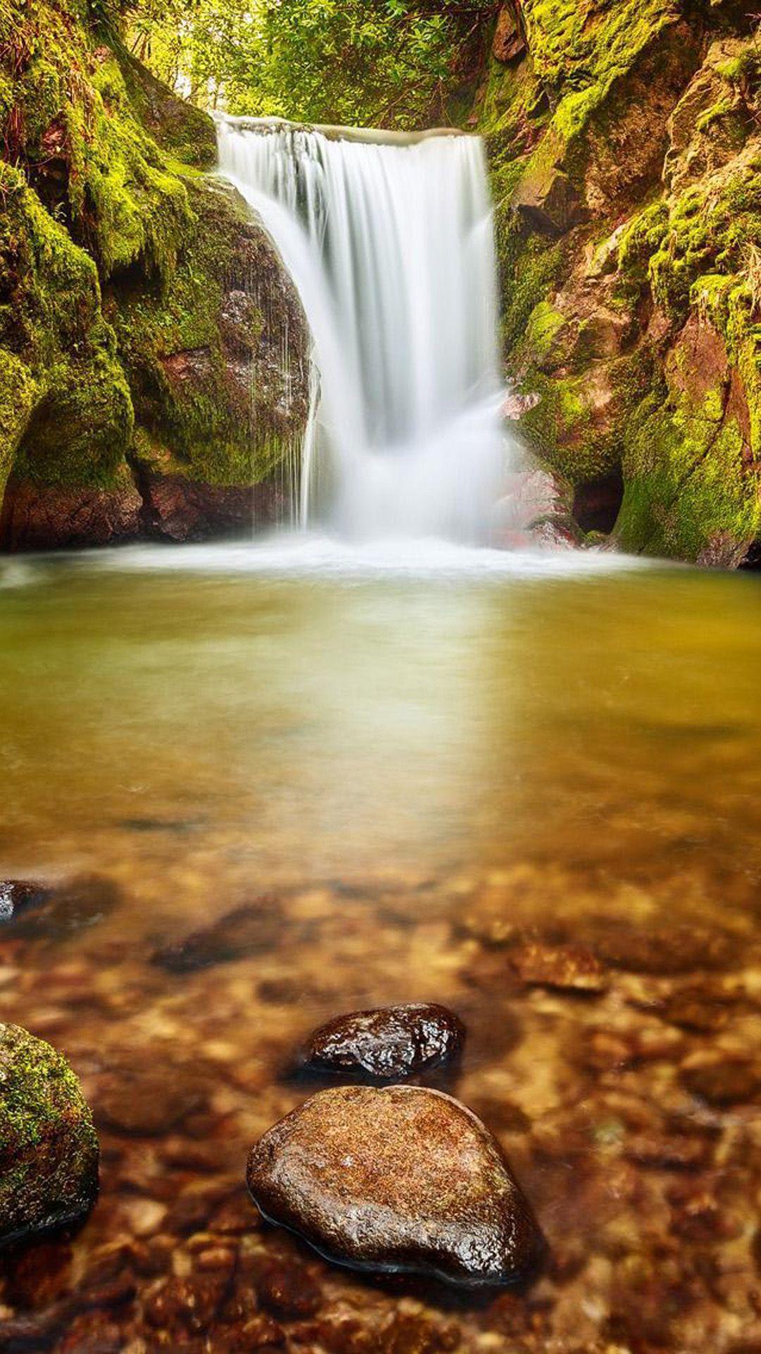 Beautiful Waterfall Landscape Iphone 8 Wallpapers Waterfall Waterfall Landscape Beautiful Waterfalls