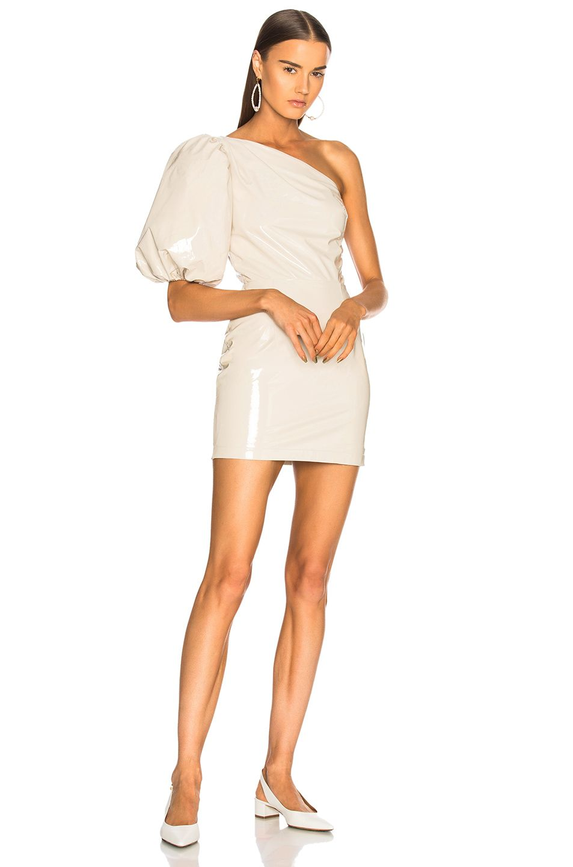 Zeynep Arcay One Shoulder Patent Leather Dress In Off White Modesens Patent Leather Dress White Mini Dress Dressy Dresses [ 1440 x 953 Pixel ]
