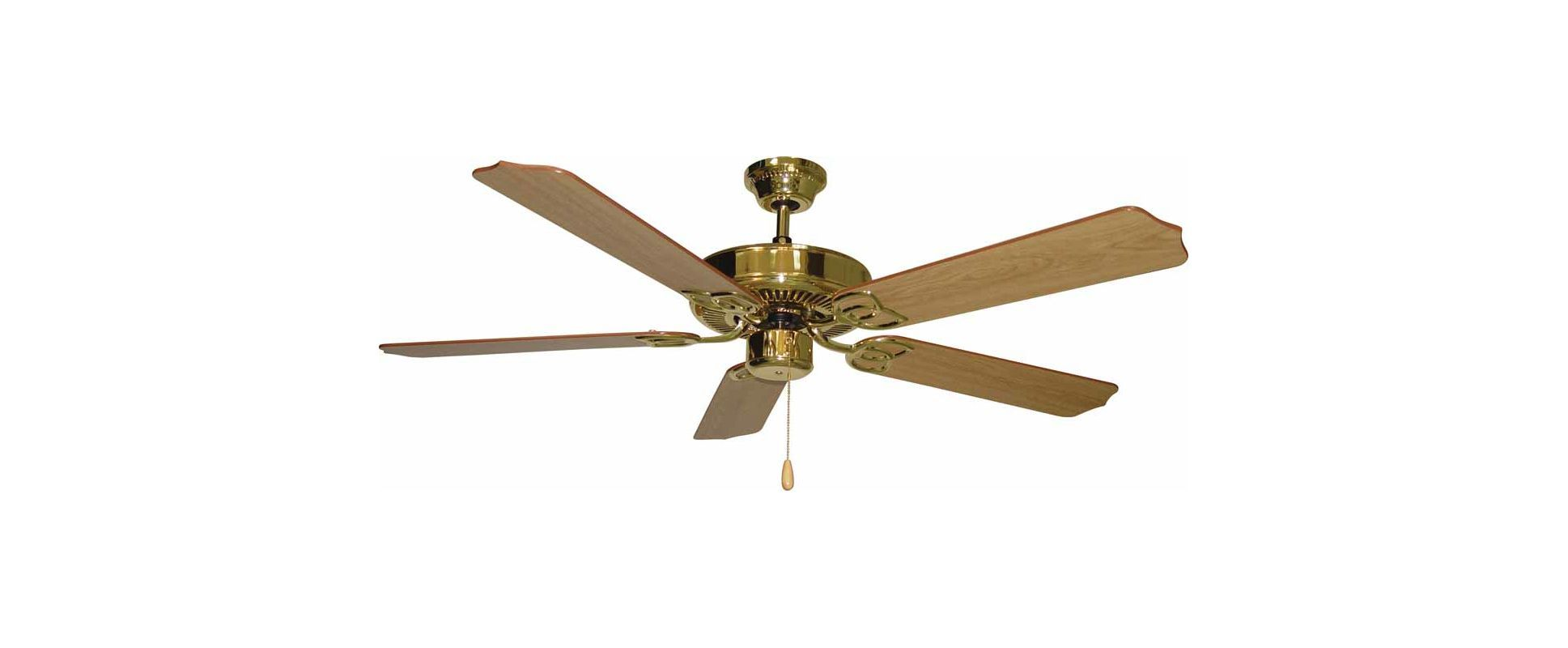 """Volume Lighting V5962 5 Blade 52"""" Indoor Ceiling Fan with White / White Wash Pin Polished Brass Fans Ceiling Fans Indoor Ceiling Fans"""