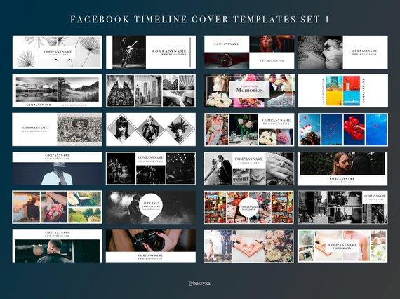 Mega Pack Set 1 25 Facebook Timeline Cover Template Photography