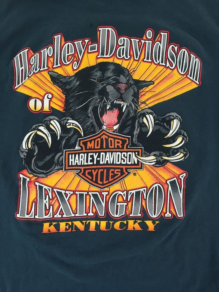 Harley Davidson Medium Eagle T Shirt Lexington Kentucky Jaguar Teal Blue Tee