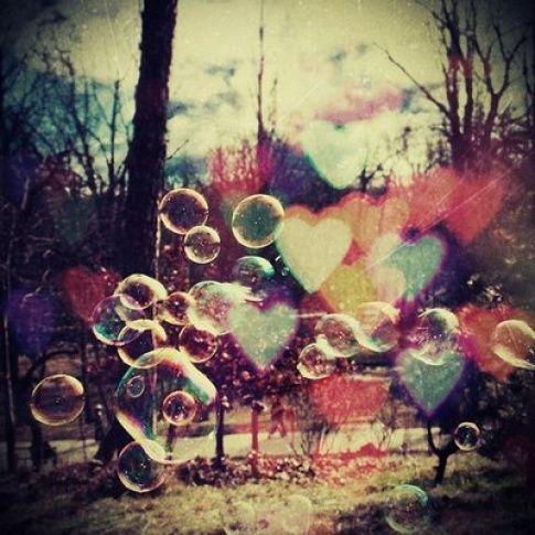 Herz-Seifenblasen