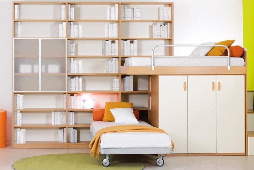 Libreria Cameretta ~ Cameretta con libreria e letto con ruote tagliabue kidsroom