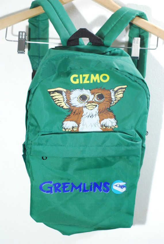 RARE 1980s Gizmo Kelly Green Nylon Gremlins by angelclawsvintage e13da1a5ac6cd