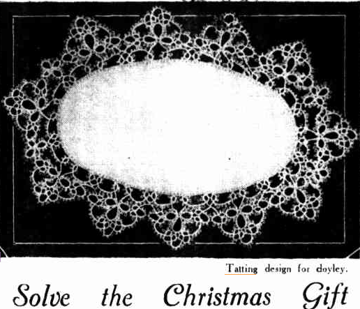Solve the Christmas Gift Problem With batting THE OVAL DOYLEY     The Australasian (Melbourne, Vic. : 1864 - 1946) Saturday 5 December 1936 p 19