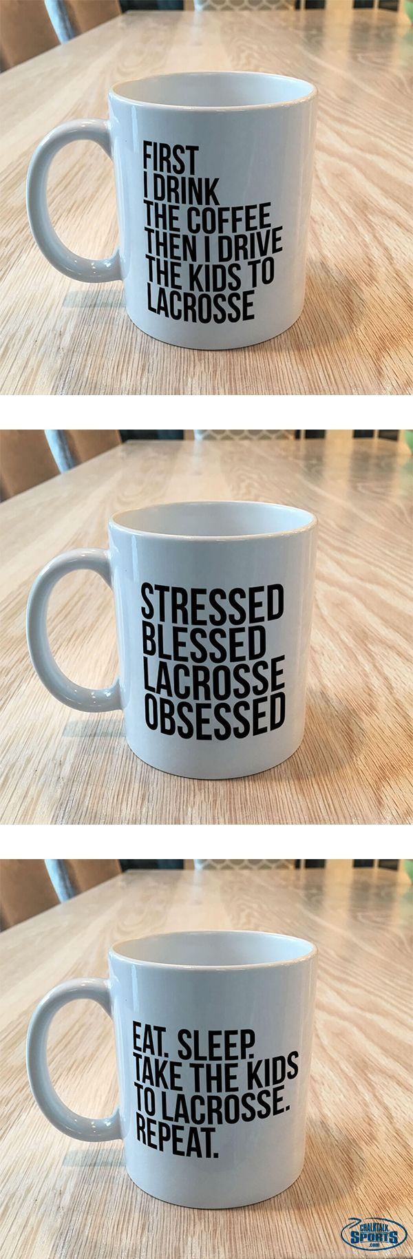Our NEW ceramic mugs make the perfect gift for any lacrosse parent or fan! Celebrate the #lacrosselife while you sip your coffee, tea or hot cocoa before the big game!