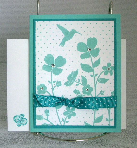 Birthday Card Handmade Tropical Beach Monochrome by PaperCraftLady, $4.50