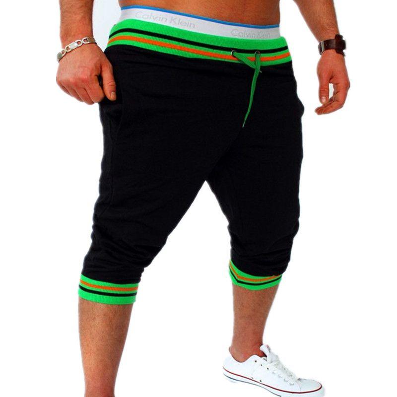 68252fb3f87da Cheap 2017 Fahion Hombres de Algodón de Verano Bermudas Casuales Harem Pantalones  Cortos de Playa Para