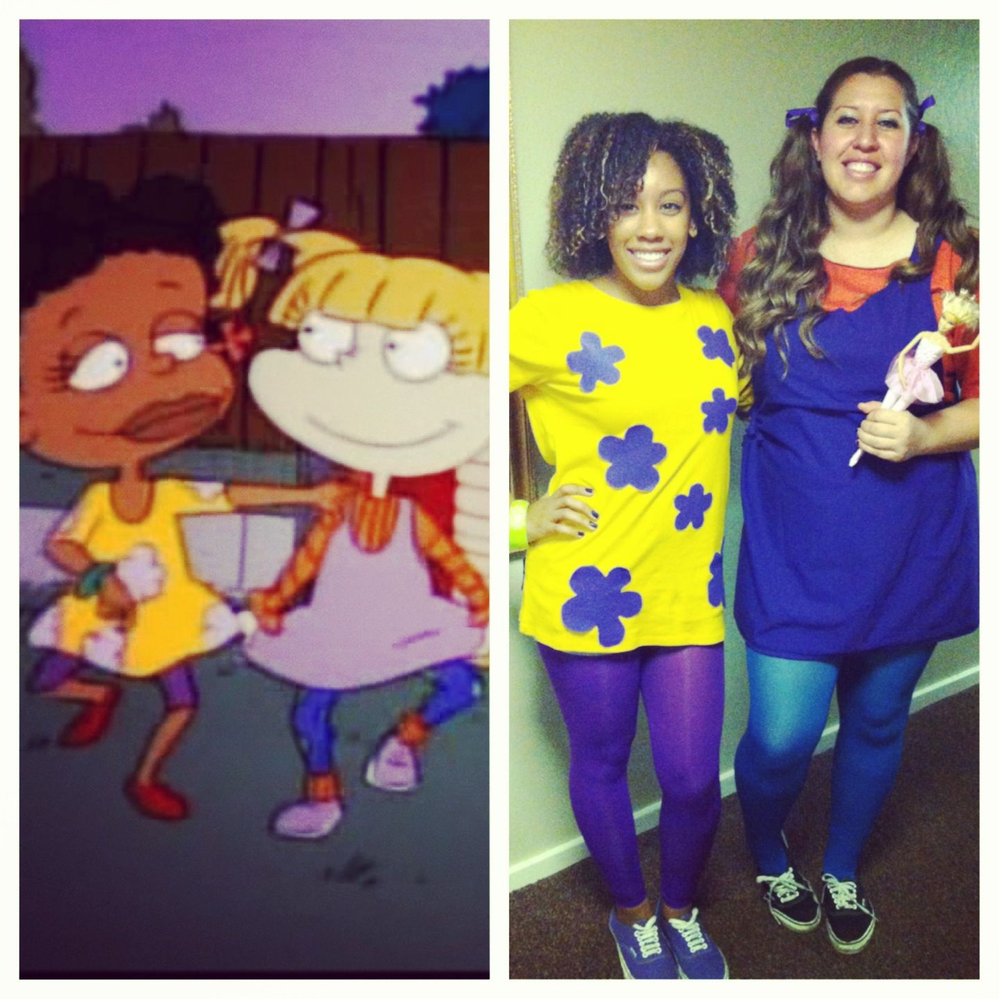 Angelica And Susie Rugrats Costume Idea For Halloween Rugrats Costume Halloween Costumes Friends Mom Costumes