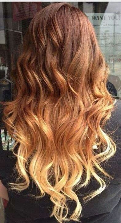 I Am Obsessed With This Ombre Fade Into Copper I M Thinking Of