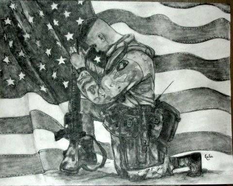Fallen Soldier Memorial Art | Remembrance - Portrait of a Soldier