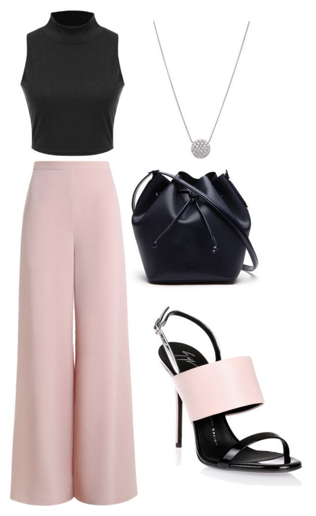 """Untitled #24"" by kamreestewart on Polyvore featuring Zimmermann, Giuseppe Zanotti and Lacoste"