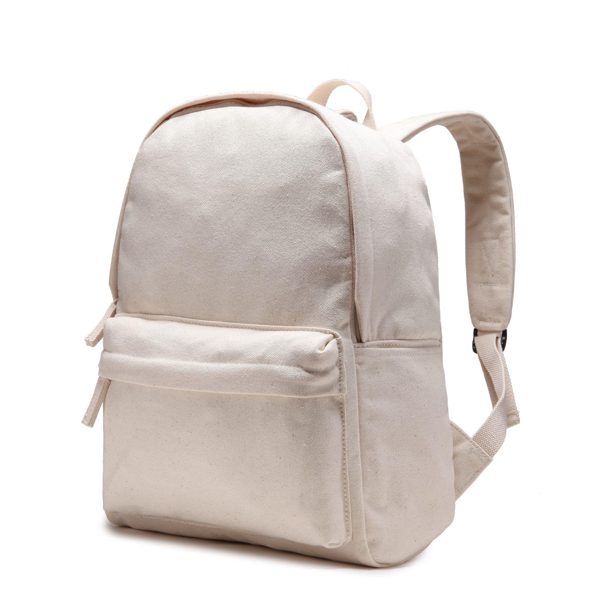 8035246a5840 Karitco Plain Canvas Rucksack Light-weight Shoulder Backpack ...