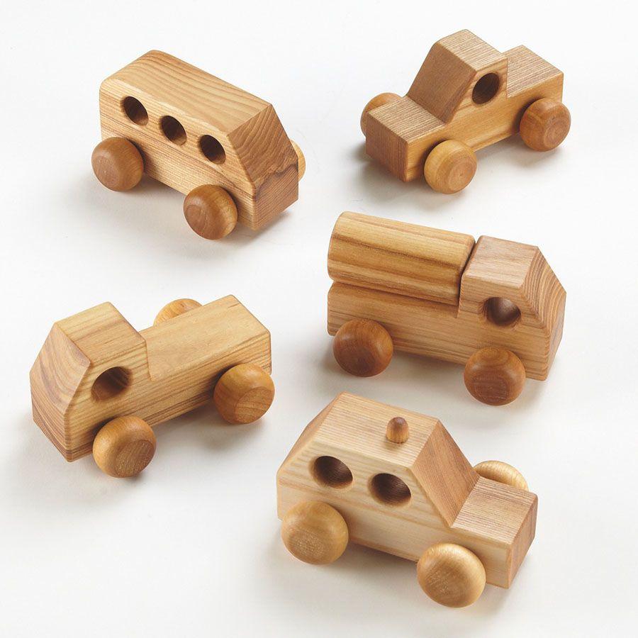 Small World Mini Wooden Vehicles 5pk Wooden Toys Wooden