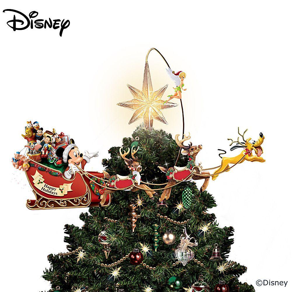 Thomas Kinkade Illuminated Animated Santa Claus Tree Topper Disney Tree Topper Disney Christmas Tree Topper Disney Christmas Decorations
