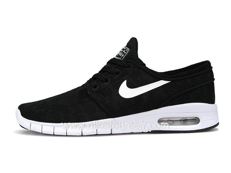 newest de09e 3eda5 ... closeout nike sb stefan janoski max chaussures pas cher pour homme noir  blanc 631303 010 7bc6c