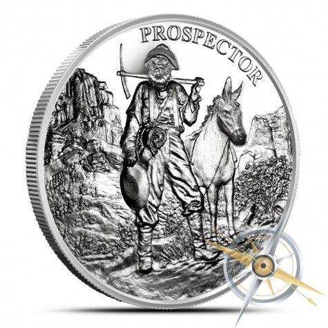 LOT OF 5 PROVIDENT PROSPECTOR 1 OZ COPPER ROUNDS NEW DESIGN .999 FINE!