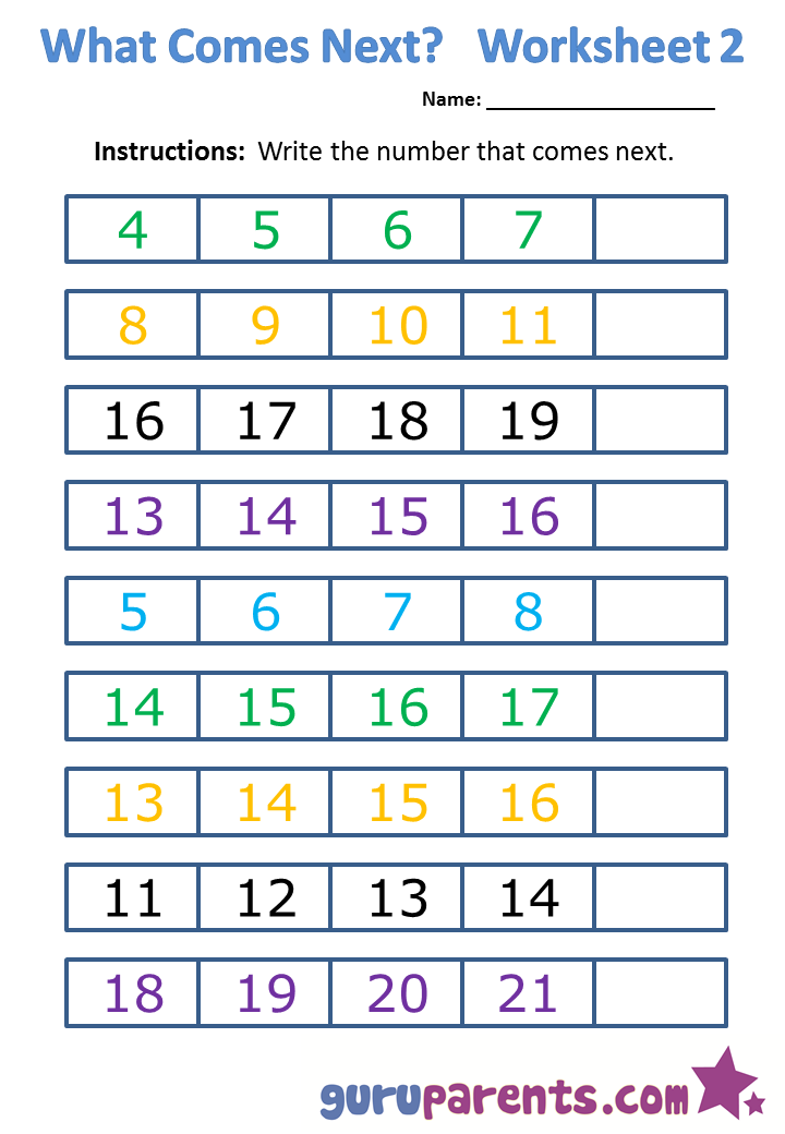 What comes next worksheet 2 | Kindergarten | Pinterest ...