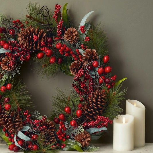 Berry wreath Ruskin House by John Lewis Country inspired Christmas