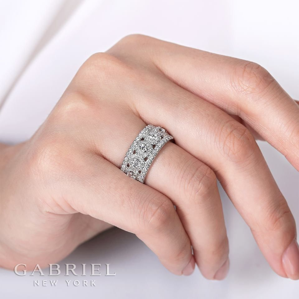 It is just an image of Unique 42k White Gold Fancy ANNIVERSARY BAND. Explore thousands of