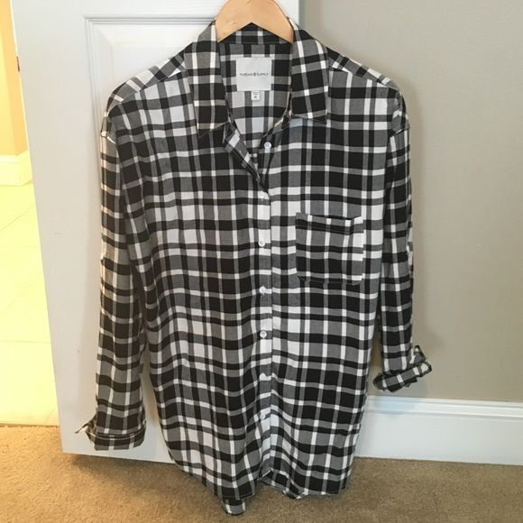 Black and White Plaid Top Black and white plaid top from Nordstrom. NWOT Thread & Supply Tops Button Down Shirts
