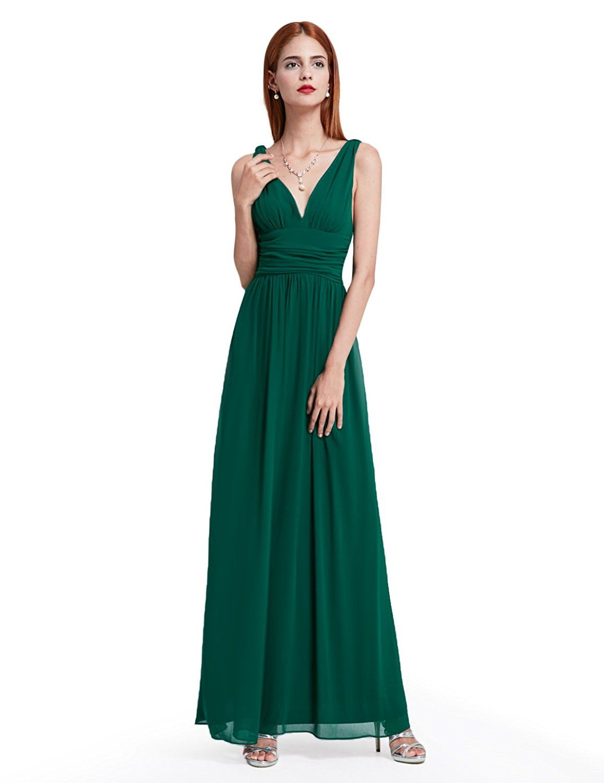 Ever Pretty Sleeveless V-Neck Semi-Formal Maxi Evening Dress 09016 ...