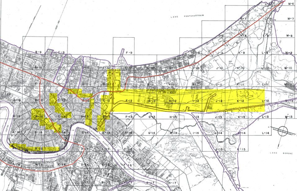 zoning map new orleans Where Are The Industrial Zoning Areas In New Orleans Commercial zoning map new orleans