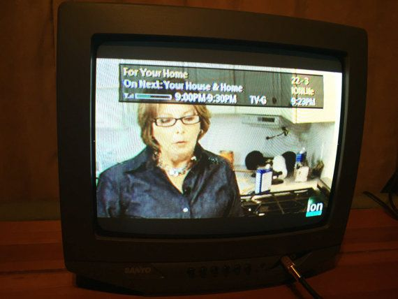 Awesome Sanyo 13 Color Crt Tv Television By