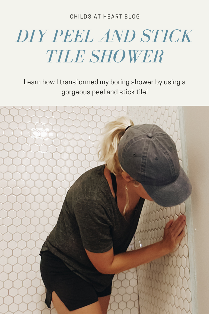 Diy Peel And Stick Tile Shower Childs At Heart Stick On Tiles Peel And Stick Tile Shower Tile
