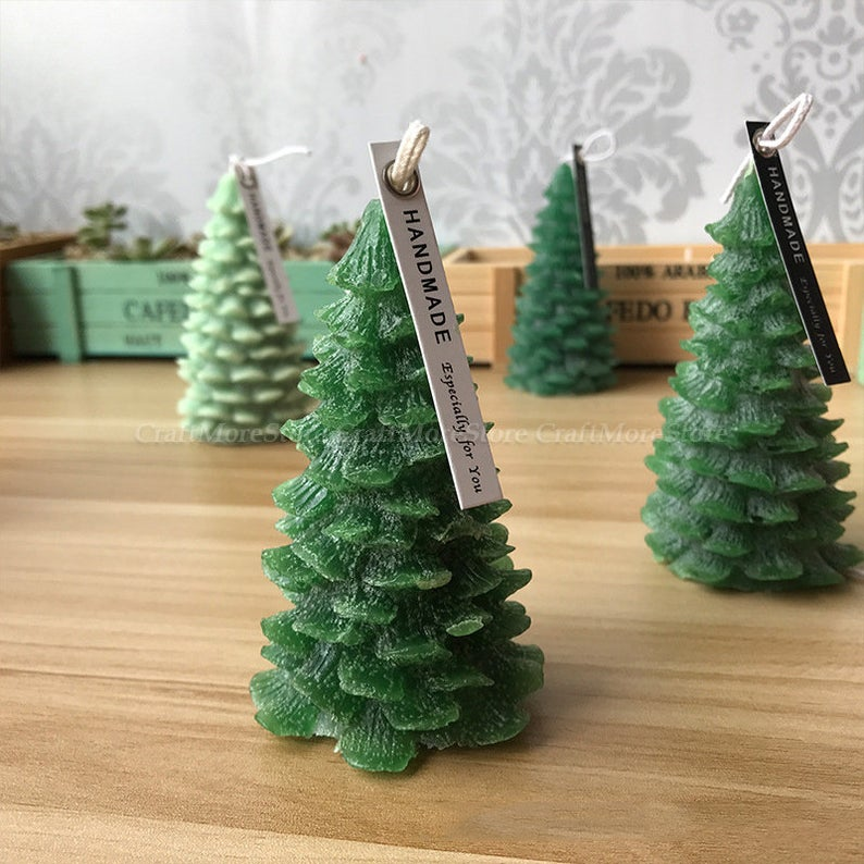 3d Christmas Tree Candle Mold Pine Silicone Candle Mold Candle Etsy In 2020 Christmas Tree Candle Mold Diy 3d Christmas Tree Christmas Tree Candles