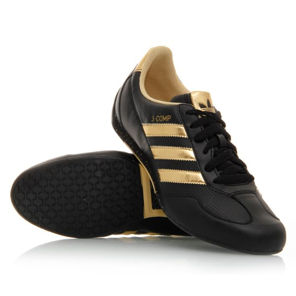 adidas black gold women