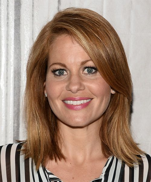 Candace Cameron Bure Medium Straight Light Golden Brunette Hairstyle #candacecameronburehairstyles