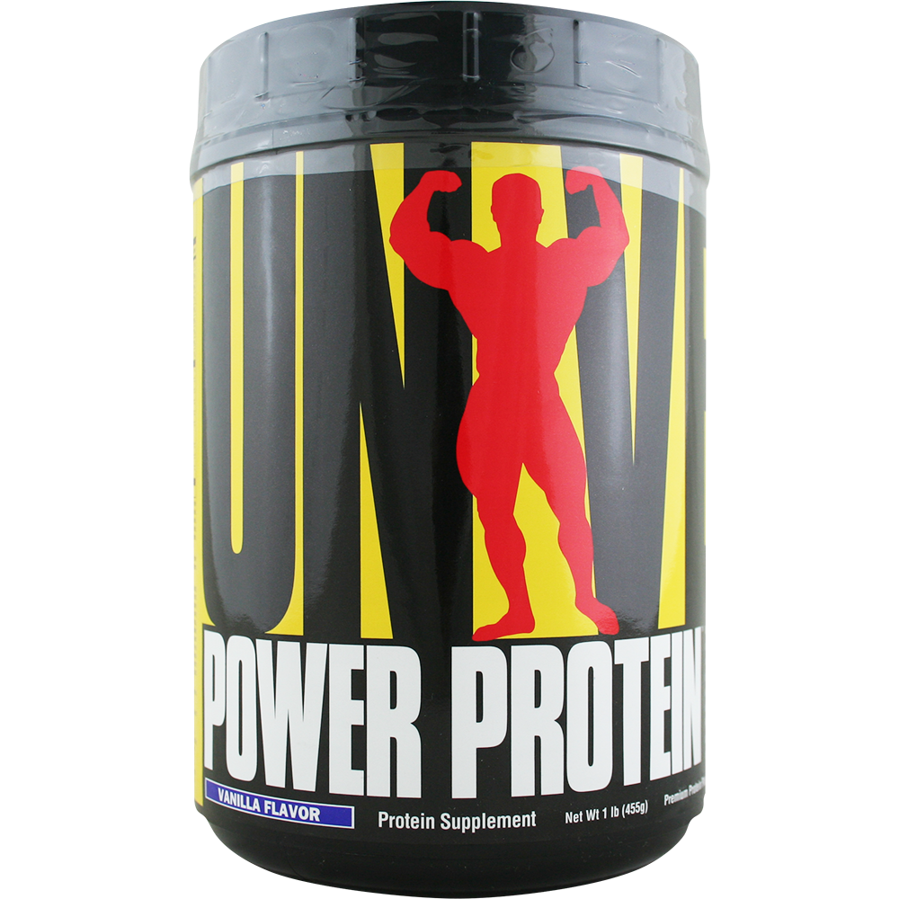 Universal Power Protein Vanilla 1 lb | Regular Price: $18.75, Sale Price: $13.99 | OvernightSupplements.com | #onSale #supplements #specials #Universal #ProteinPowder  | Universal Power Protein offers serious bodybuilders and athletes a perfectly balanced combination of the highest quality premium protein plus essential vitamins minerals anti oxidants electrolytes lipotropics advanced metabolic optimizers and high performance complex carbohydrates Power Protein forges your bo