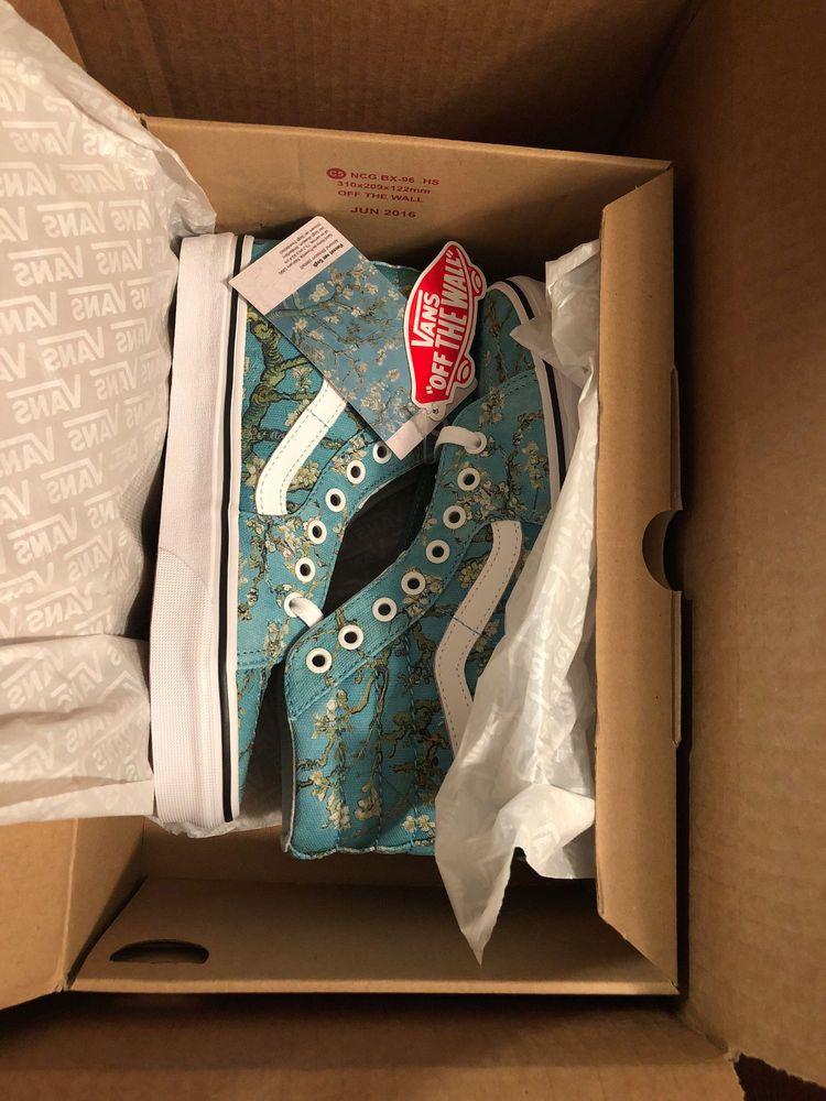 5fc5f68e320 Details about NWT VANS SK8 Hi Vincent Van Gogh Almond Blossom Shoes ...