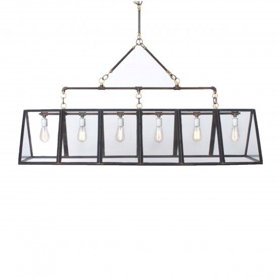 The 12 Panel Greenhouse Light Chandelier Is A Perfect Geometric Fixture For Any Vintage Room