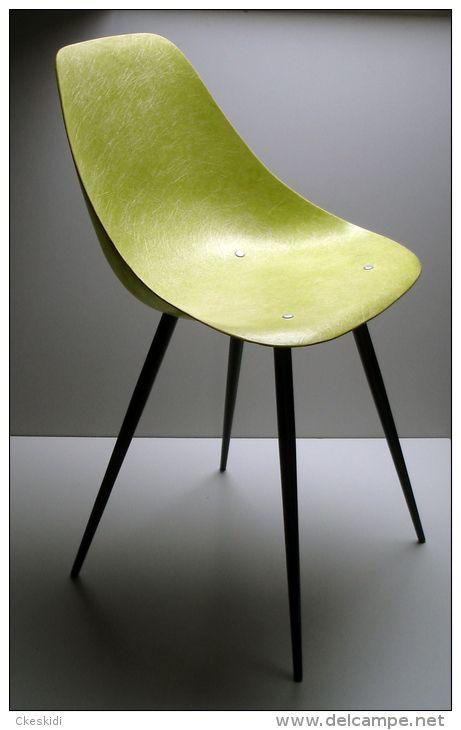 Rene Jean Caillette Fiberglass Chair For Steiner C 1950 S Caillettes Fibre De Verre Chaise