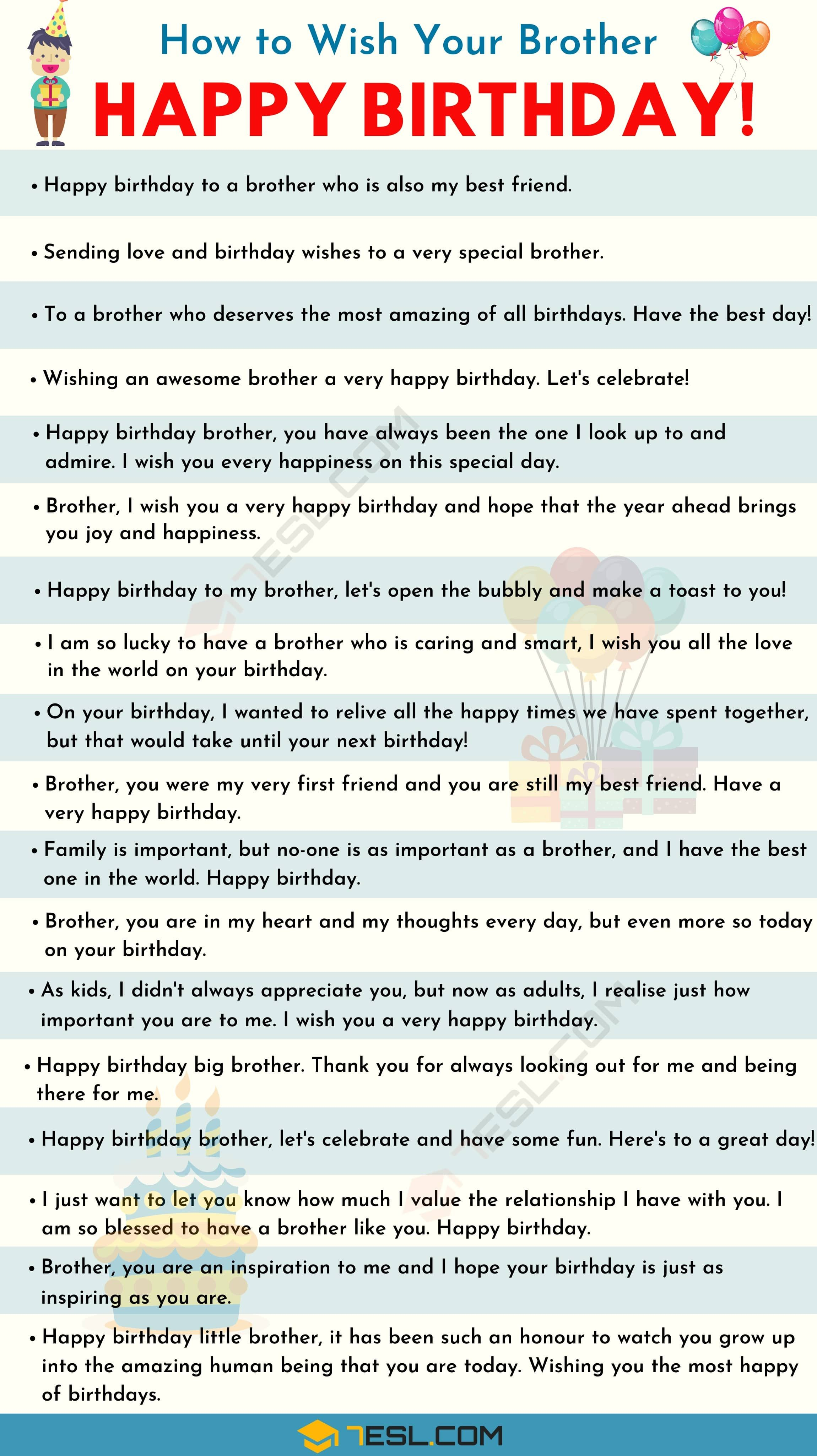Birthday Wishes 500 Meaningful Happy Birthday Messages For Everyone 7esl Happy Birthday Brother Messages Birthday Wishes For Brother Happy Birthday Brother Quotes