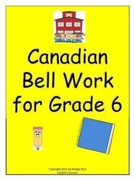 grade 6 bellwork math