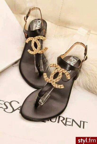 Chanel sandals, Summer shoes, Chanel shoes