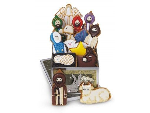 nativity christmas biscuit tin
