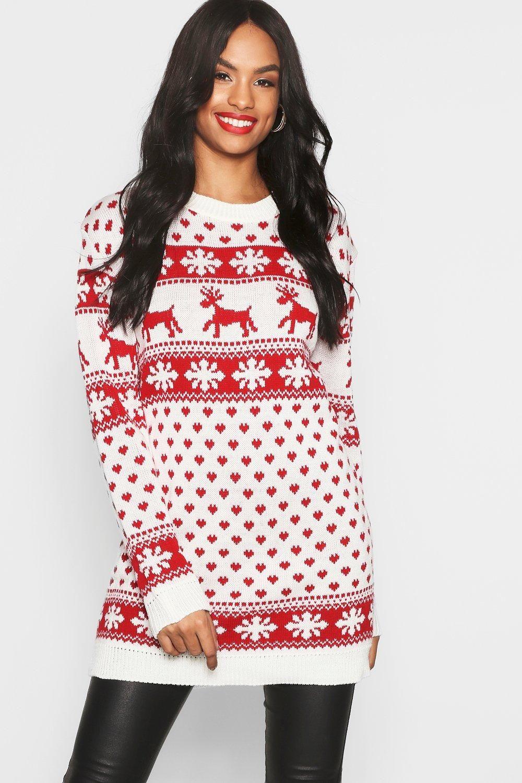 Womens Tall Reindeers Snowman Christmas Sweater Dress White M L Christmas Sweater Dress Cute Christmas Outfits Christmas Jumper Dress