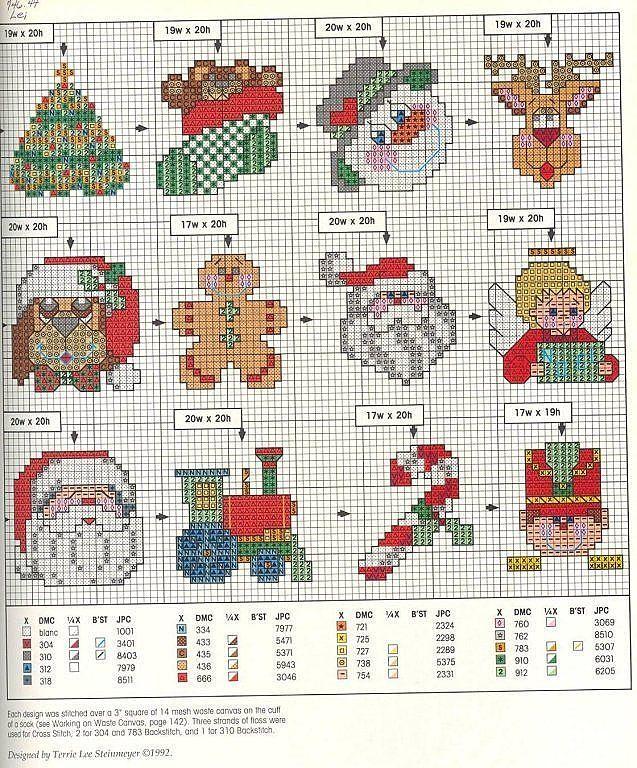 Solo Patrones Punto Cruz | im | Pinterest | Punto de cruz navidad ...