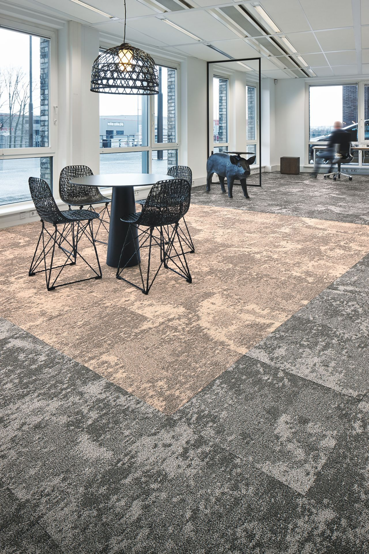 Tessera Cloudscape Carpet Tiles By Forbo Flooring Living Coral