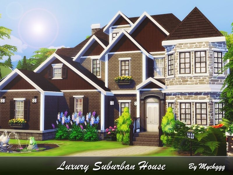 Beautiful Sims Home Suburban House Sims House Design Sims 4 Houses Layout