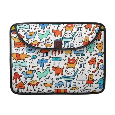 Mad Monster Friends MacBook Pro Sleeve by Scruff!  $60
