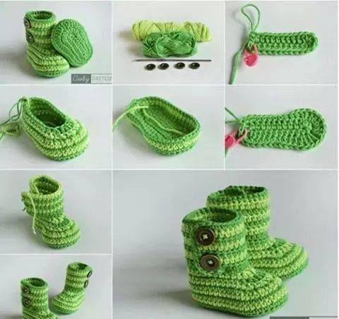 escarpines para bebe a crochet paso a paso - Buscar con Google ...