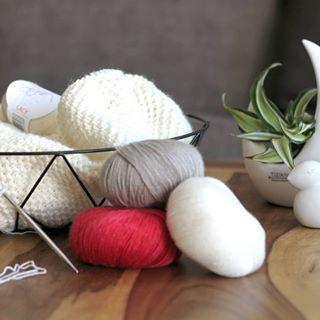 Photo of Hortensienblüte / einfaches Tuch stricken