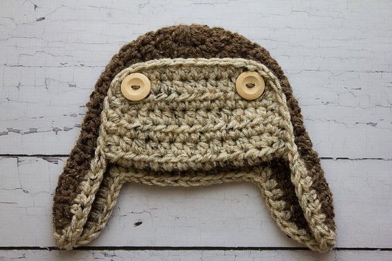 Crochet PATTERN - Newborn to adult Aviator hat Photo Prop -Instant ...