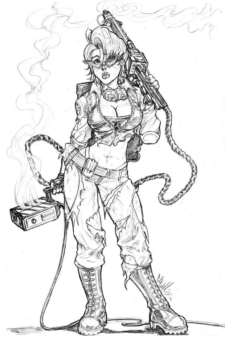 Free coloring pages ghostbusters - Janine Melnitz Ghostbusters Chris Williams