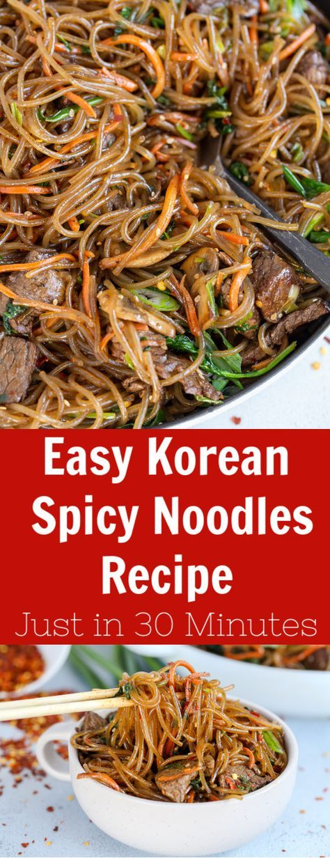 The Easy Korean Spicy Noodles are just too simple to prepare. In just 30 minutes, this will make your perfect dinner.  #asiannoodles #quickdinner #easydinner #spicynoodles #koreannoodles #spicykoreandish #quickdinner Food Recipes Easy, Food Recipes Homemade #FoodRecipesForTeens  #FoodRecipesTasty  #FastFoodRecipes  #FoodRecipesMeals  #BestFoodRecipes